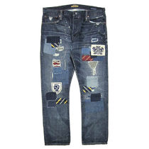 Rugby Tapered Pants Street Style Plain Cotton Jeans & Denim