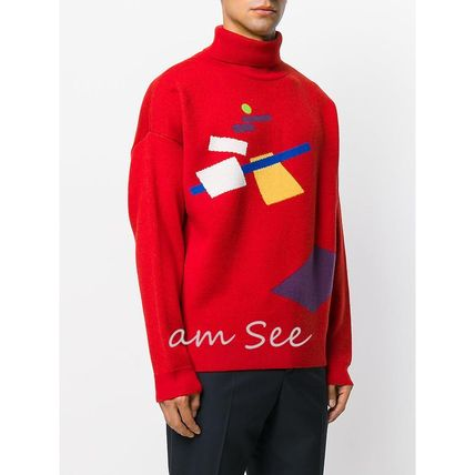 Gosha Rubchinskiy Pullovers Wool Street Style Long Sleeves Knits & Sweaters
