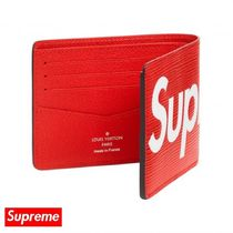 Supreme Street Style Collaboration Folding Wallets