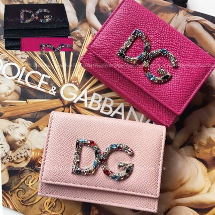 Dolce & Gabbana Japan Exclusive!  Bijou logo Leather Folding Wallets