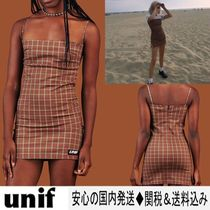UNIF Clothing Short Glen Patterns Tight Sleeveless Cotton Elegant Style