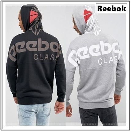 Reebok Long Sleeves Plain Cotton Hoodies