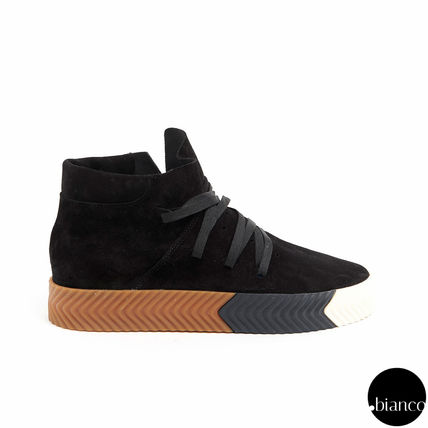 Alexander Wang Street Style Collaboration Bi-color Leather U Tips Sneakers