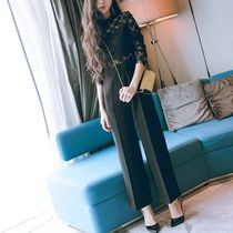 Star Long Sleeves Long Party Style High-Neck Lace Dresses
