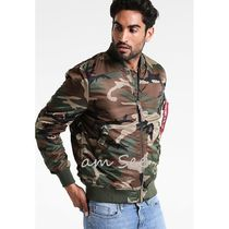 ALPHA INDUSTRIES Short Camouflage Street Style MA-1 Bomber Jackets