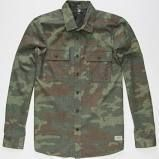 Volcom Camouflage Long Sleeves Cotton Shirts