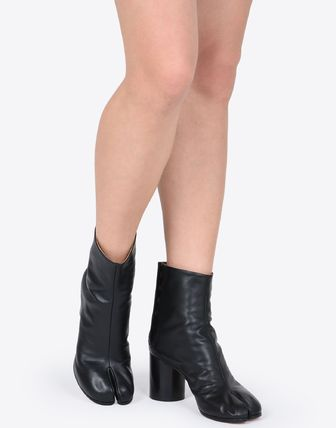 Maison Martin Margiela Ankle & Booties Plain Leather Block Heels Ankle & Booties Boots 7