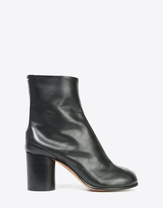 Maison Martin Margiela Ankle & Booties Plain Leather Block Heels Ankle & Booties Boots 8