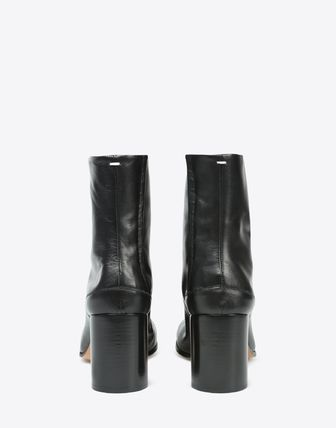 Maison Martin Margiela Ankle & Booties Plain Leather Block Heels Ankle & Booties Boots 10
