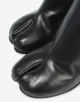 Maison Martin Margiela Ankle & Booties Plain Leather Block Heels Ankle & Booties Boots 11
