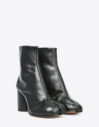 Maison Martin Margiela Ankle & Booties Plain Leather Block Heels Ankle & Booties Boots 12