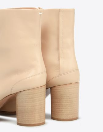 Maison Martin Margiela Ankle & Booties Plain Leather Block Heels Ankle & Booties Boots 5
