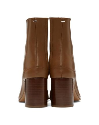 Maison Martin Margiela Ankle & Booties Plain Leather Block Heels Ankle & Booties Boots 14