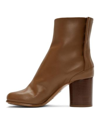Maison Martin Margiela Ankle & Booties Plain Leather Block Heels Ankle & Booties Boots 15