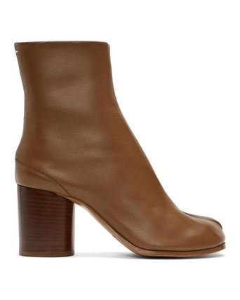 Maison Martin Margiela Ankle & Booties Plain Leather Block Heels Ankle & Booties Boots 17