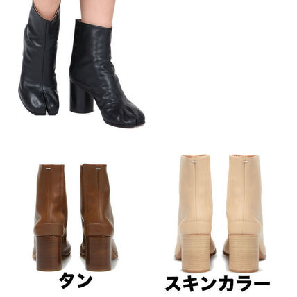 Maison Martin Margiela Ankle & Booties Plain Leather Block Heels Ankle & Booties Boots