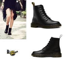 Dr Martens Leather Flat Boots