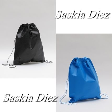 Casual Style Blended Fabrics A4 Plain Backpacks