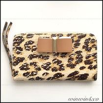 Chloe Leopard Patterns Leather Long Wallets