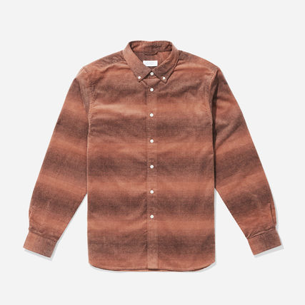 SATURDAYS SURF NYC Shirts Other Check Patterns Street Style Long Sleeves Cotton Shirts