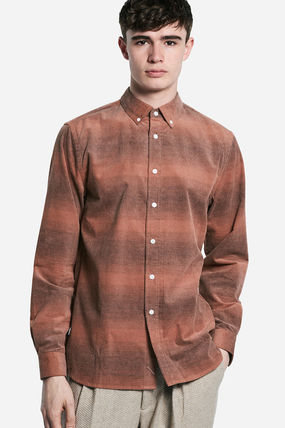SATURDAYS SURF NYC Shirts Other Check Patterns Street Style Long Sleeves Cotton Shirts 2