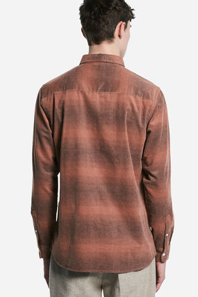 SATURDAYS SURF NYC Shirts Other Check Patterns Street Style Long Sleeves Cotton Shirts 3