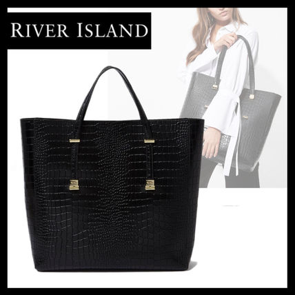 A4 Leather Office Style Python Totes