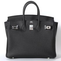 HERMES Black/SHW Togo Birkin 25 Mini Bag