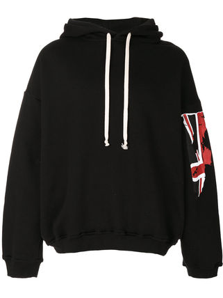 Pullovers Union Jack mark Street Style Long Sleeves Cotton