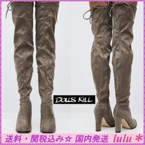 DOLLS KILL Casual Style Plain Over-the-Knee Boots