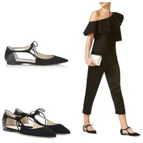 Jimmy Choo Suede Plain Pointed Toe Shoes