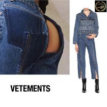 VETEMENTS Casual Style Street Style Collaboration Cotton Long Jeans