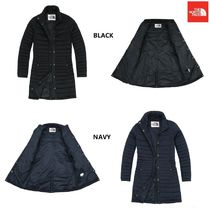 THE NORTH FACE Stripes Wool Street Style Plain Long Down Jackets