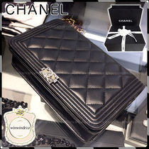 CHANEL BOY CHANEL Chain Plain Leather Accessories