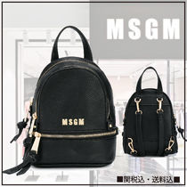 MSGM Casual Style Plain Backpacks