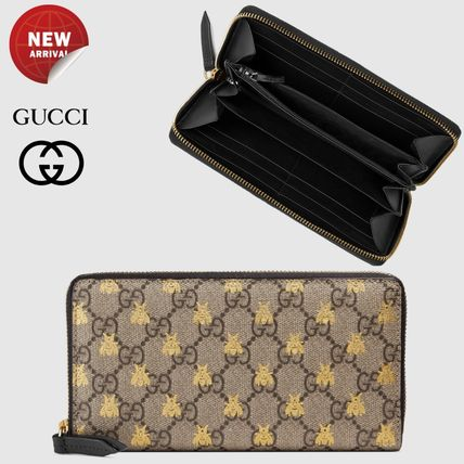 timeless design 6c1c5 5fdb4 GUCCI 2018 Cruise Monogram Faux Fur Other Animal Patterns Long Wallets  (410102 9F26G 8319)