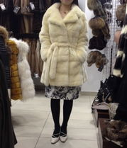Short Fur Plain Oversized Cashmere & Fur Coats