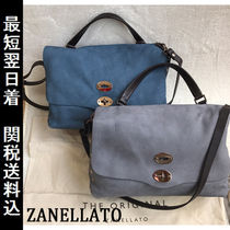 ZANELLATO Suede A4 2WAY Plain Elegant Style Shoulder Bags