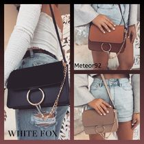 WHITE FOX Faux Fur Plain Shoulder Bags