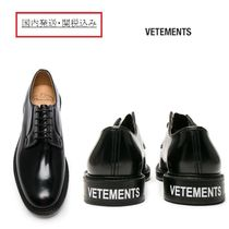 VETEMENTS Collaboration Leather Oxfords