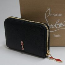 Christian Louboutin Unisex Plain Leather Coin Cases