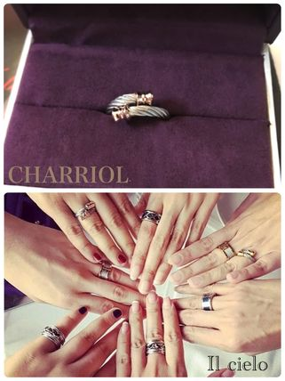 【CHARRIOL 】stainless steel cable Ring*