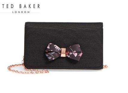 TED BAKER Flower Patterns 2WAY Plain Party Style Clutches