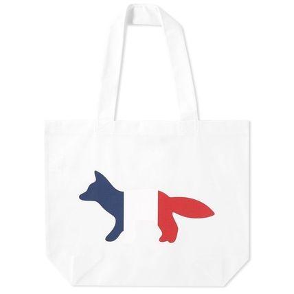 MAISON KITSUNE Casual Style A4 Other Animal Patterns Totes