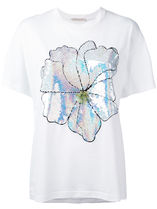 Christopher Kane Flower Patterns Short Sleeves T-Shirts