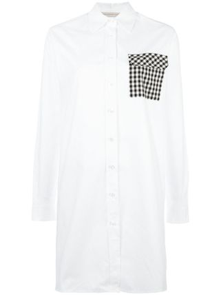 Christopher Kane Gingham Long Sleeves Cotton Shirts & Blouses