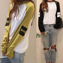 NANING9 Casual Style Long Sleeves Cotton T-Shirts