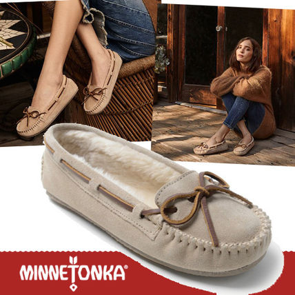 Moccasin Round Toe Rubber Sole Casual Style Suede