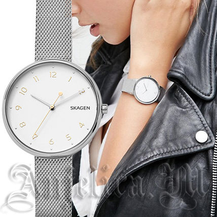 Metal Round Quartz Watches Office Style Analog Watches