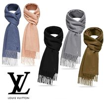 Louis Vuitton Cashmere Knit & Fur Scarves